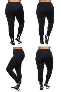 3f00b539f78 S2 Workout Leggings W  Color Back Zipper 1151X. Plus Size ActivewearWorkout  ...