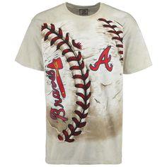 MLB Atlanta Braves Hardball Tie-Dye T-Shirt - Cream