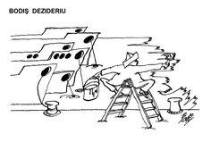 Caricatura de BODIS DEZIDERIU, publicata in almanahul PERPETUUM COMIC '97 editat de URZICA, revista de satira si umor din Romania