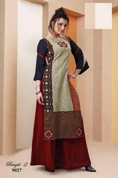 Picture of Peculiar multicolor designer kurti Anarkali Kurti, Salwar Kameez, Indian Attire, Indian Wear, India Fashion, Daily Fashion, Women's Fashion, Plain Kurti, Kurti Patterns