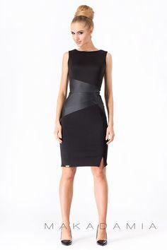 Makadamia M175  Sukienka - czarna