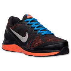 pretty nice 29012 a96be Men s Nike Dual Fusion Run 3 Running Shoes   Finish Line   Black Hyper  Crimson