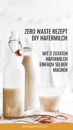 Zero Waste – Rezept: Hafermilch einfach & günstig selber machen Zero Waste DIY Recipe – Simply make oat milk yourself with only 3 ingredients. Totally easy and quick. For your breakfast or your matcha latte. Matcha, Smoothie Recipes, Smoothies, Tartiflette Recipe, Crunches, Food Items, Zero Waste, Apple Cider, Easy Meals