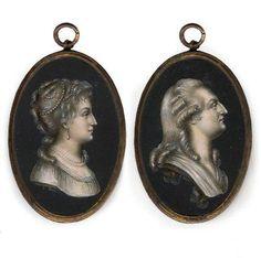 Miniatures of Marie Antoinette, Louis XVI.