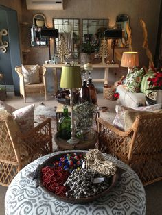 Natural cane and large variety of decor accessories to be found at Nom de Plume studio Connor road Pietermaritzburg