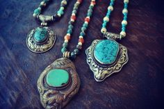 XMAS IN JULY Turquoise Talisman /// Boho Tribal by luxdivine, $112.00