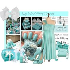 My wedding theme ..      Something Tiffany Blue..., created by moneypenny9971 on Polyvore