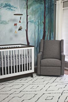A Dreamy Woodland Themed Nursery That Is Gender Neutral Has Gorgeous Hand Painted