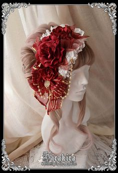 Christmas special series 2015 headdress from KIRAKIRA! Comes in white or red (shown).