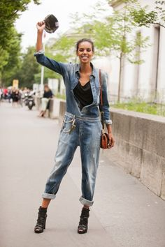 http://www.refinery29.com/denim-outfits#slide-9 07_Grace-Mahary-Melodie-Jeng-7215_MelodieJeng   @gracemahary @imgmodels in @Rhiannon Mohar for @river_island denim after @alexvauthier on @Refinery29