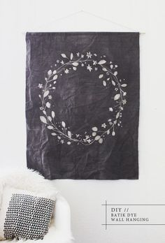 DIY batik dye wall hanging