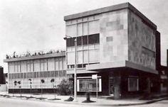 Edificio para el Fondo de Cultura Económica, av. Universidad esq Parroquia, Col. Santa Cruz Atoyac, Benito Juárez, México DF 1954   Arq. Enrique de la Mora -  Fondo de Cultura Economica building, Universidad, Mexico City 1954