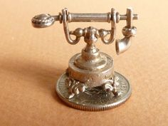 Vintage English 3D Sterling  Silver Charm large  by undermycharm, $19.00