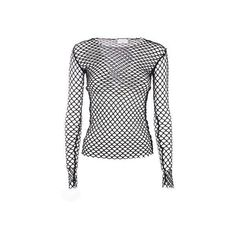 Dries Van Noten Hashim Fishnet Top ❤ liked on Polyvore featuring tops, fishnet top, white top, dries van noten, dries van noten top and white fishnet top