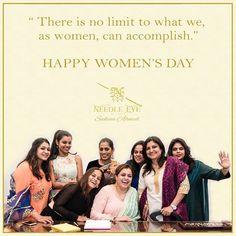 HAPPY WOMEN'S DAY  #needleeye #women Happy Woman Day, Happy Women, Bridal Blouse Designs, Ladies Day, Eyes, Instagram