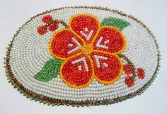 Wonderful ~ Alaskan Beaded Floral Highbush Cranberry Barette ~