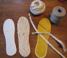 Of Dreams and Seams: DIY Tutorial: Making Soles for House Shoes These would make great espadrille wedges!!