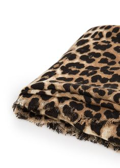 Leopard print scarf with frayed edges. Leopard Print Scarf, Shopping Spree, Womens Scarves, Mango, Animal Print Rug, Your Style, Womens Fashion, Portugal, Fall Winter