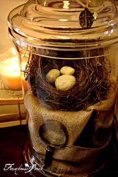 A pretty way to fill a jar (from The Farmhouse Porch)