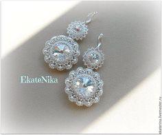 Bead Jewellery, Seed Bead Jewelry, Seed Bead Earrings, Beaded Jewelry, Handmade Jewelry, Beaded Earrings Patterns, Beaded Tassel Earrings, Jewelry Patterns, Bride Earrings