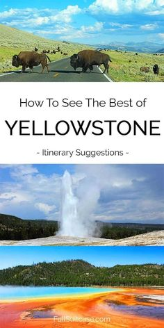 Yellowstone itinerary suggestions for one, two, three, four or five days. See the main landmarks and the best places with our top tips. Every itinerary includes a map to help you plan your trip. Find out! Yellowstone Vacation, Yellowstone Park, West Yellowstone Montana, Wyoming Vacation, Visit Yellowstone, Tennessee Vacation, Ireland Vacation, Florida Vacation, Backpacker