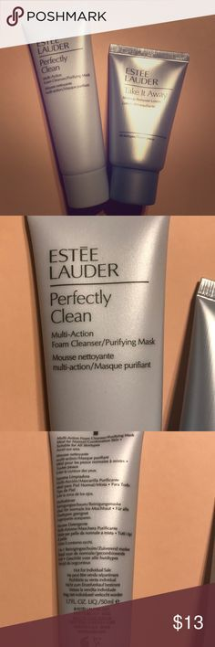 Estée Lauder Foam Cleanser and Makeup Remover Foam Cleanser/Purifying Mask is 1.7 FL. OZ. and Makeup Remover Lotion is 1 FL. OZ. Both new and unused. Estee Lauder Makeup