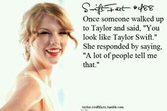 How could this person not know it was the actual Taylor Swift? All About Taylor Swift, Taylor Swift Facts, Long Live Taylor Swift, Red Taylor, Taylor Swift Pictures, Taylor Alison Swift, One & Only, Love Quotes For Her, Funny Love