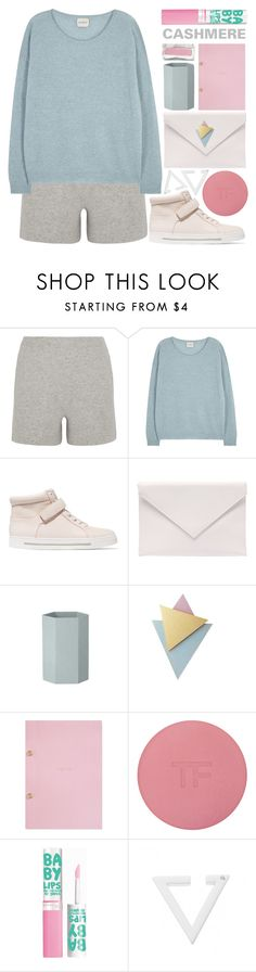 """""""soft cashmere"""" by foundlostme ❤ liked on Polyvore featuring Allude, Le Kasha, Marc by Marc Jacobs, Verali, ferm LIVING, Studio Sarah, Tom Ford, Maybelline and cashmere"""