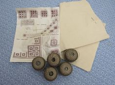 Vintage Scandinavian HARDANGER Embroidery TABLE RUNNER