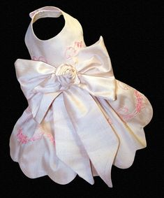 Couture Embroidered Silk Dog Dress, Pastel Pink, via Etsy