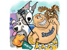 A Steelers fan with a selfie stick is no match for our humor columnist and her pack of service dogs.