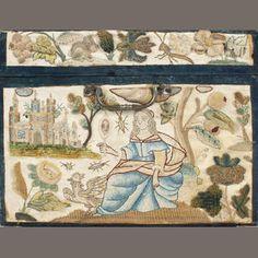 17th century needlework casket
