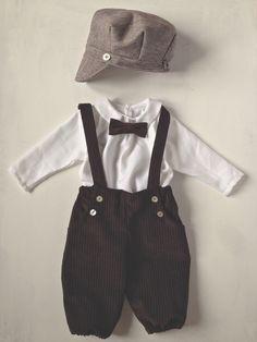 Taufbekleidung - JIM Taufanzug Mütze Fliege Hemd Hose Winter 4 teil - ein Designerstück von giobambini bei DaWanda