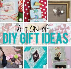 A TON of DIY Gift Ideas! For gifts, holidays, decor, jewelry, organization and so much more!