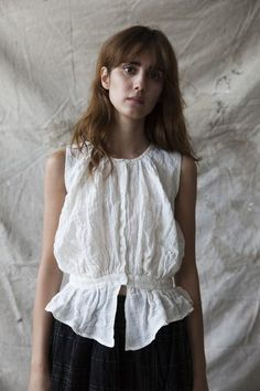 Magda Top - White Linen www.ovate.ca