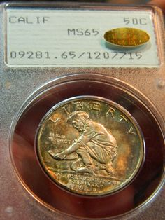 1925 California Commemorative Half Dollar PCGS MS65 CAC - Submitted by Gus Green of Full Eagle Rare Coins (Listing: http://www.fulleaglerarecoins.com/product_p/fe216-2576743-004.htm) #CoinOfTheDay #COTD