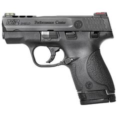 """From Smith & Wesson's Performance Center, an enhanced S&W Shield. 9mm, 3.1"""" ported barrel, ported slide. Enhanced trigger, Performance Center sear and plunger, 3 palm swell back straps, scalloped rear cocking serrations & Tritium night sights"""