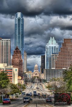 Cloudy Congress Austin Skyline; March 2010 | Flickr - Photo Sharing!