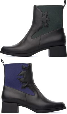 Camper TWINS Black Boots Women K400113-001