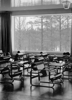 Paimio Chairs (1932) in Paimio Sanatorium by Alvar Aalto 1929-19