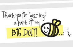 Mom2Bee Thank You Card - Perfect for a Baby Shower