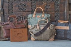 Men's WILL Canvas Travel Bags available st Teskey's!