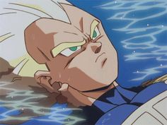 """I love this! Vegeta didn't think Trunks would hit him and when Trunks DID hit him he's just laying in the water for a second saying """"That little brat actually hit me"""" I think Trunks was 100% done LOL"""