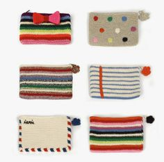 inspiration crochet pencil cases by Anne-Claire Petit Crochet Pencil Case, Crochet Phone Cases, Crochet Pouch, Crochet Purses, Crochet Gifts, Love Crochet, Diy Crochet, Tapestry Crochet, Knitted Bags
