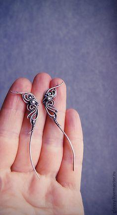 Handmade earrings. Fair Masters - handmade earrings variation on Monteira. Handmade.