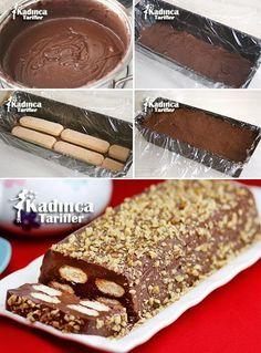 Pudding Cat Tongue Cake Recipe, How To - Turkish Recipes Easy Sweet Recipes, Cake Recipes, Dessert Recipes, Pasta Cake, Gluten Free Cupcakes, Summer Cakes, Turkish Recipes, Yummy Cookies, Ice Cream Recipes