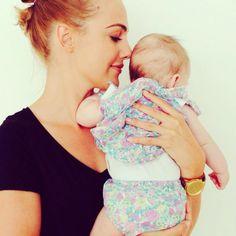 Meryem Uzerli with her baby daughter Lara The Smell of LOVE  Meryem Uzerli 26 Mayıs