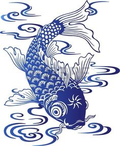 Their spectacular colors and patterns are part of the reason that koi fish are loved today and treasured by their owners. Colors of a koi fish should be bright. Koi Fish Drawing, Fish Drawings, Koi Art, Fish Art, Koi Kunst, Art Asiatique, Art Japonais, Blue Pottery, China Painting