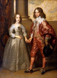 Sir Anthony van Dyck - William II, Prince of Orange and Princess Henrietta Mary Stuart, Daughter of Charles I of England Anthony Van Dyck, Sir Anthony, Anthony William, Mary Stuart, Roi Charles, King Charles, London Charles, King William, Nassau