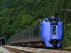 キハ281系  札幌~函館間特急「北斗」の高速化のため開発された振子式ディーゼル特急.特急「スーパー北斗」として活躍中である.